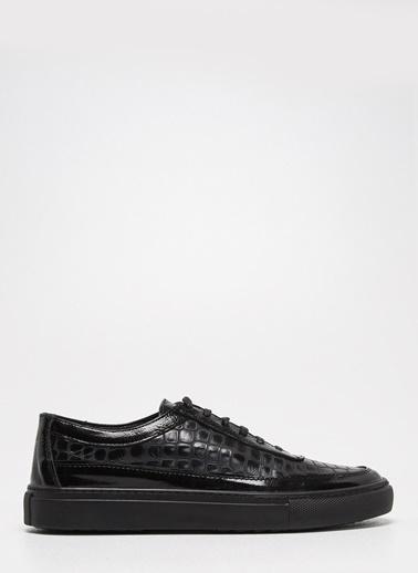 D by Divarese Deri Spor Ayakkabı Siyah